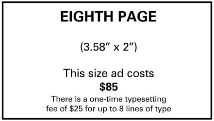 Needs and Wants newspaper Eighth Page Ad