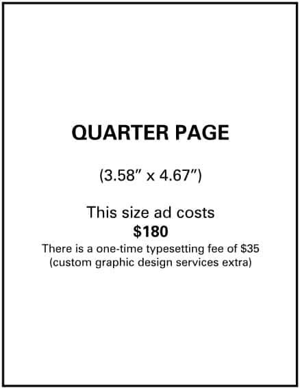 Needs and Wants newspaper Quarter Page Ad