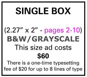 Needs and Wants newspaper Single Box Ad Pages 2-10